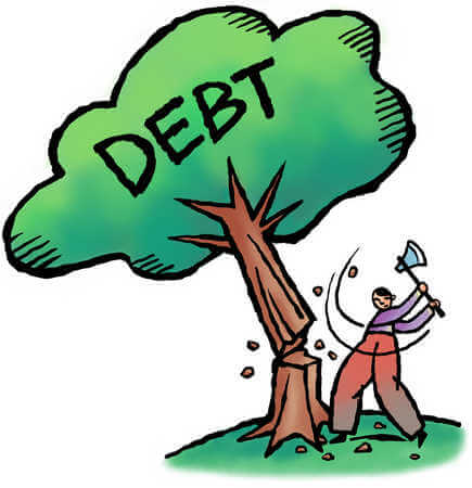 chopping down debt tree
