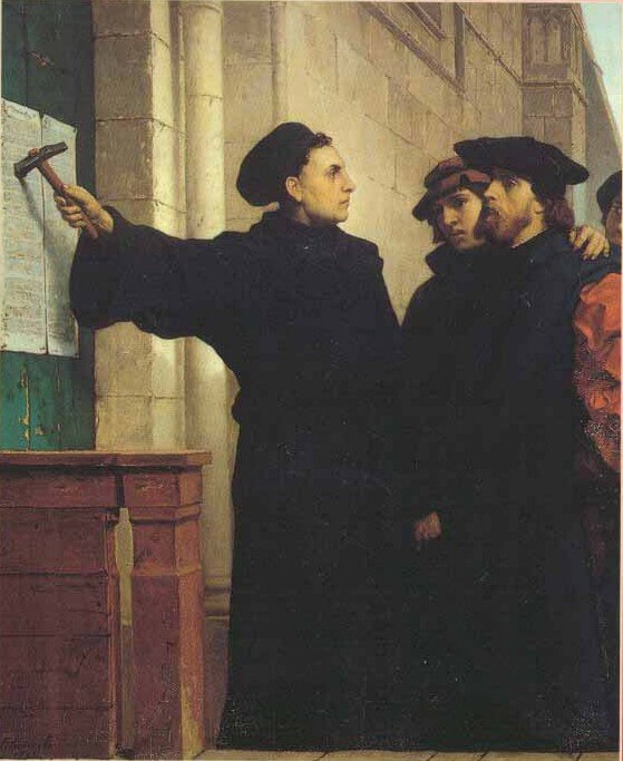 Martin Luther nails the clergy